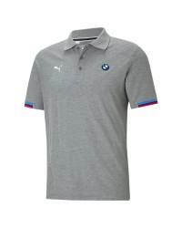Camiseta Polo Bmw Mms / Cinza